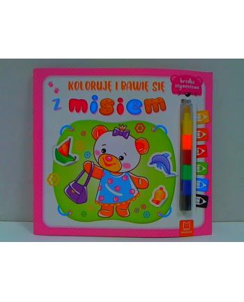 aksjomat Książka Koloruję i bawię się z misiem. Edukacyjna książeczka z naklejkami