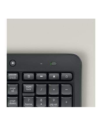 Zestaw klawiatura + mysz membranowa Logitech 920-008678 (USB 2.0; (BE); kolor czarny)