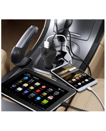 TE07 Samochodowy uchwyt na tablet i ładowarka USB
