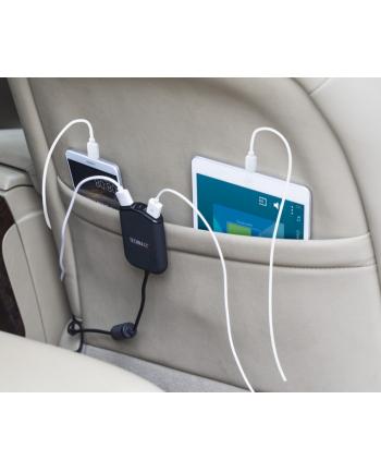 TE14 Samochodowa ładowarka USB dla rodziny (4 porty, przedłużka)