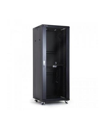 Szafa montażowe A-LAN SS-32U-600-600-01-C (32U; 19''; 1605mm / 600mm / 600 mm; Szklane; 600 kg; kolor czarny)