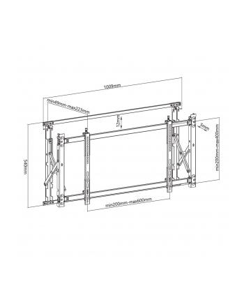 Uchwyt Ściana video Maclean MC-845 (ścienne; 46  - 52 ; max 35kg)