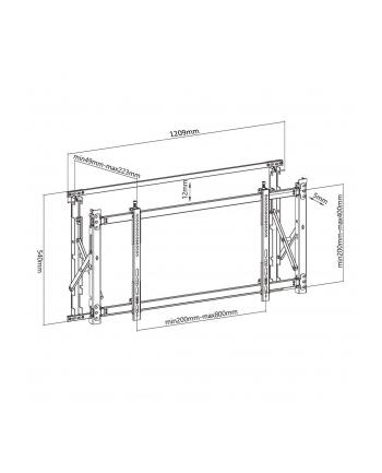 Uchwyt Ściana video Maclean MC-846 (ścienne; 50  - 60 ; max 35kg)