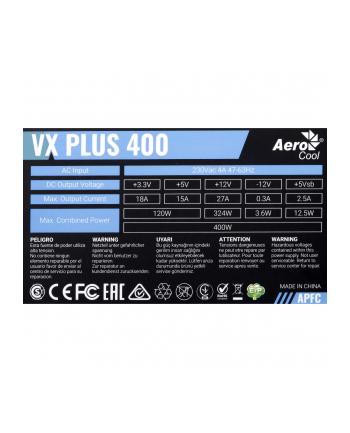 Zasilacz Aerocool PGS VX-400plus AEROPGSVX-400PLUS-80 (400 W; Aktywne)