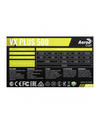 Zasilacz Aerocool PGS VX-500plus AEROPGSVX-500PLUS-80 (500 W; Aktywne)