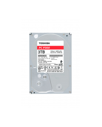 Dysk Toshiba P300 HDWD240UZSVA (4 TB ; 35 ; SATA III; 128 MB; 5400 obr/min)