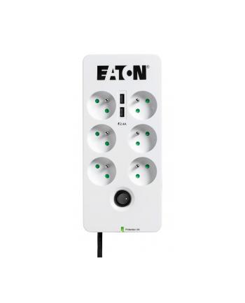 Listwa przeciwprzepięciowa EATON PB6UF (6 x UTE; 10 A; kolor biały)