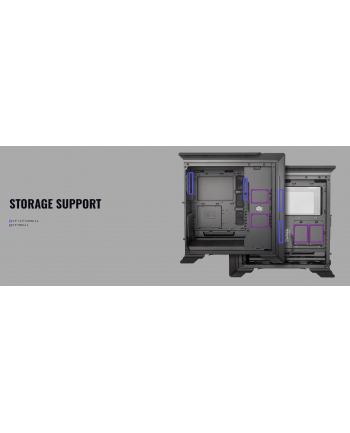 Cooler Master MasterCase SL600M Black Edition, tower case (black, Tempered Glass)