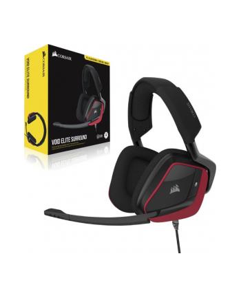 Corsair VOID ELITE SURROUND, Headset(Black / Red)