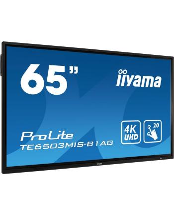 Iiyama TE6503MIS-B1AG, public display(black, UltraHD, infrared, touch, HDMI, VGA)