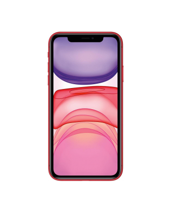 Smartfon Apple iPhone 11 64GB Red (6 1 ; IPS  LCD  Liquid Retina HD  Multi-Touch  Technologia True Tone; 1792x828; 4GB; 3110 mAh)