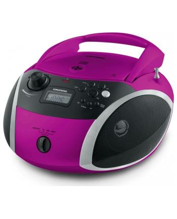 Grundig GRB 3000, CD Player(pink / silver, FM radio, CD-R / RW, Bluetooth)