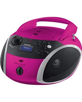 Grundig GRB 4000, CD players(pink / silver, FM / DAB + radio, CD-R / RW, Bluetooth)