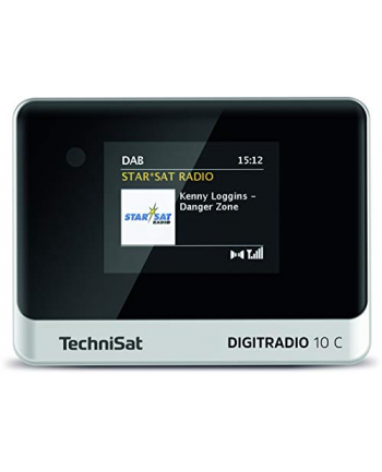TechniSat DIGIT RADIO 10 C, adapter(black / silver, FM, DAB +)