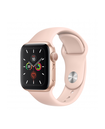 Apple Watch S5 aluminum 40mm gold - Sports bracelet Sandrosa MWV72FD / A