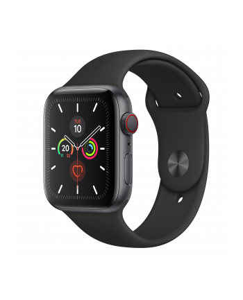 Apple Watch S5 Aluminum 44mm grey - Sports Wristband black MWWE2FD / A