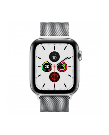 Apple Watch S5 Edelst.Mil 44mm silver - Milanaise MWWG2FD / A
