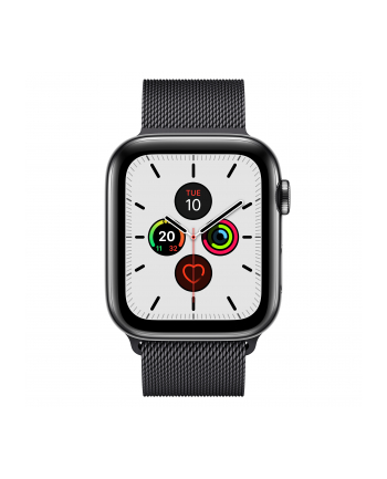 Apple Watch S5 Edelst.Mil 44mm black - Milanaise Spaceblack MWWL2FD / A