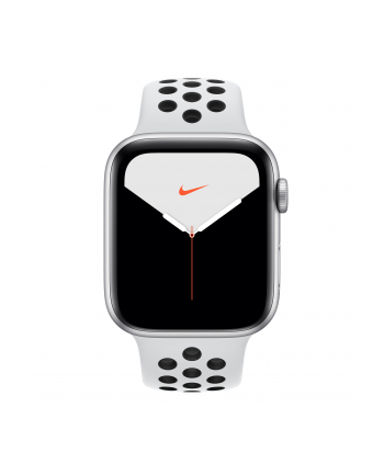 Apple Watch Nike + S5 aluminum 44mm silver - Sport Armband platinum / black MX3V2FD / A