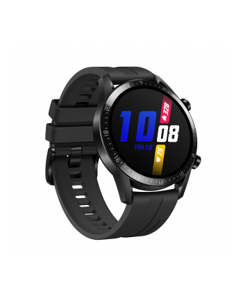Huawei Watch GT2 46mm sport watch(black, Bracelet: Matte Black, fluorine rubber)
