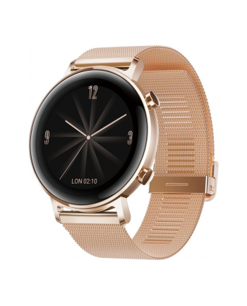Huawei Watch GT2 42mm Elegant, Smart Watch (gold, Bracelet: Refined gold, metal)