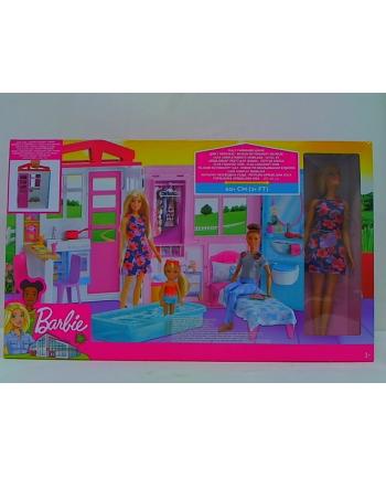 mattel Barbie przytulny domek + lalka FXG55