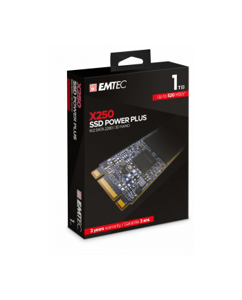 Emtec X250 SSD Power Plus 1TB Solid State Drive (SATA 6 GB / s, M.2)