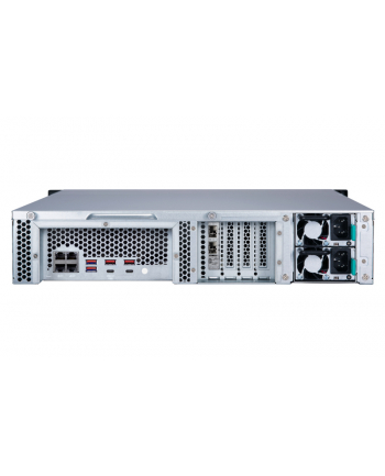 qnap Serwer TS-1283XU-RP-E2124-8G-E U  2U 12-bay NAS, Intel Xenon E-2124 CPUDDR4 2666 4GBx2,!gbEx4, 10GbE SFP+x2,PCIe slotX4, 300W redundant PSU, EU Editi