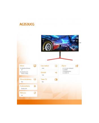aoc Monitor AG353UCG 35 cali VA 200Hz HDMI DP Głośniki