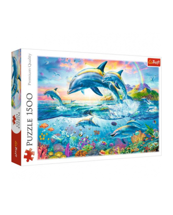 Puzzle 1500 elementów - Rodzina delfinów 26162 Trefl