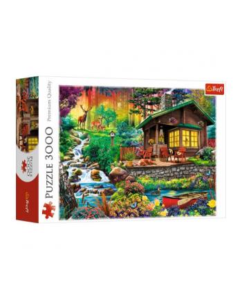 Puzzle 3000 elementów - Chatka w lesie 33074 Trefl