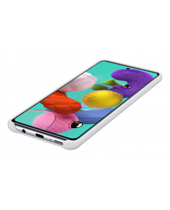 Etui do Galaxy A51 Silicone Cover białe