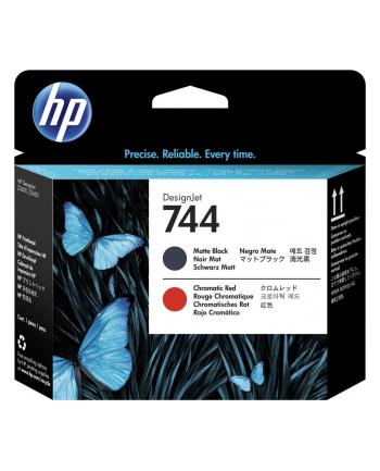 hp inc. HP 744 Matte Black & Red Printhead