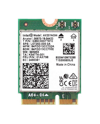 INTEL NIC WI-FI 6 AX201 2230 2x2 AX+BT vPro