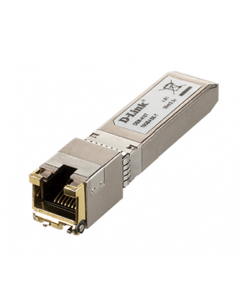 D-LINK 10G SFP+ RJ-45 Transceiver 10Gbit/s Full Duplex up to 30m Cat.6a Cable length at 10GBASE-T and up to 100m