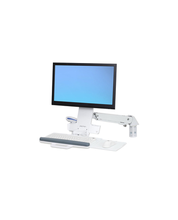 ERGOTRON WORKSTATION STYLEVIEW SIT-STAND COMBO ARM BRIGHT WHITE TEXTURE