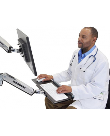 ERGOTRON uchwyt ścienny LX SIT-STAND KEYBOARD ARM POLISHED