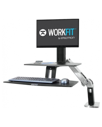 ERGOTRON WORKFIT-A WITH SUSPENDED KEYBOARD LD 5inchAND WS POLISHED ALUMINUM