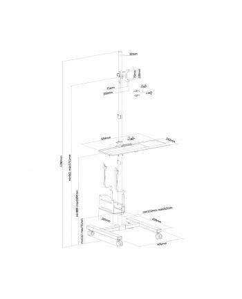 NEWSTAR FPMA-MOBILE1700 NewStar Stojak Mobilny/Wózek do Stacji Roboczej (monitor, klawiatura/myszka i PC