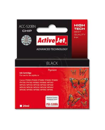 ActiveJet  ACC-520Bk tusz czarny do drukarki Canon (zam. PGI-520Bk)    (CHIP)