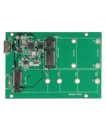 DELOCK 62731 Delock Konwerter USB 3.1-B, (F) - gniazdo M.2 / mSATA z obudową