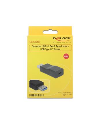DELOCK 65696 Delock Konwerter USB 3.1 męski - USB Type-C, wtyk żeński, aktywny, czarny