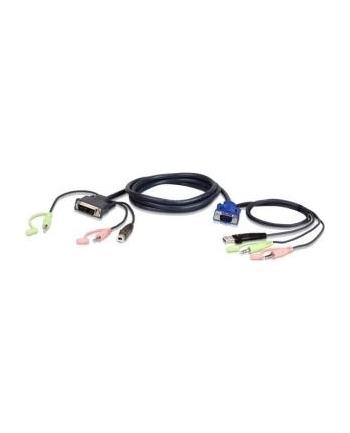 ATEN 2L-7DX2U ATEN 2L-7DX2U 1.8M USB VGA to DVI-I KVM Cable with Audio
