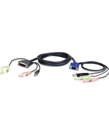 ATEN 2L-7DX3U ATEN 2L-7DX3U 3M USB VGA to DVI-I KVM Cable with Audio