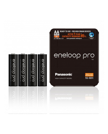 PANASONIC BK-3HCDE/4LE Panasonic Eneloop Pro R6/AA 2500mAh, 4 Szt., Sliding pack