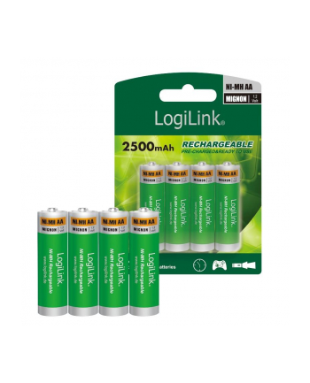 LOGILINK LR6RB4 LOGILINK - Akumulatory AA, 4 szt Ni-MH, Mignon, 1.2V