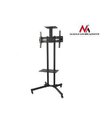 MACLEAN MC-661 Maclean MC-661 Profesjonalny stand wózek do telewizora na kółkach stolik 55kg