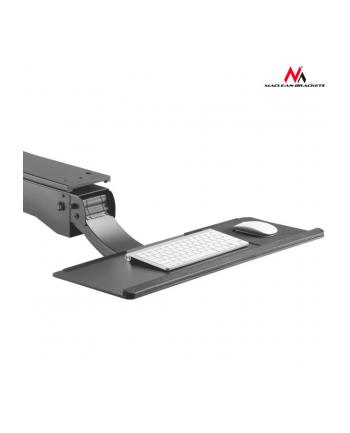 MACLEAN MC-795 Maclean MC-795 Uchwyt na klaw. podbiurkowy regulowany do pracy stojąco-siedzącej