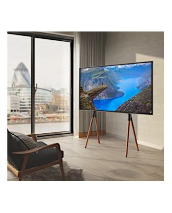 TECHLY 107241 Techly Stojak podłogowy do TV LCD/LED/Plazma 49-70 40kg VESA czarno/brązowy
