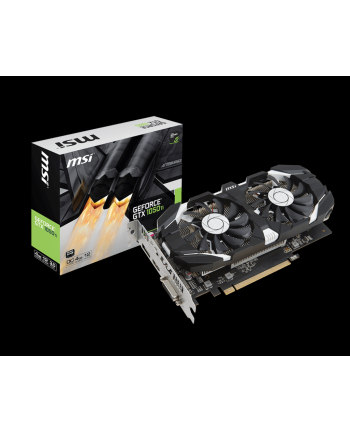 MSI GTX 1050 Ti 4GT OC MSI GeForce GTX 1050 Ti 4GT OC, 4GB, DisplayPort, HDMI, Dual-link DVI-D